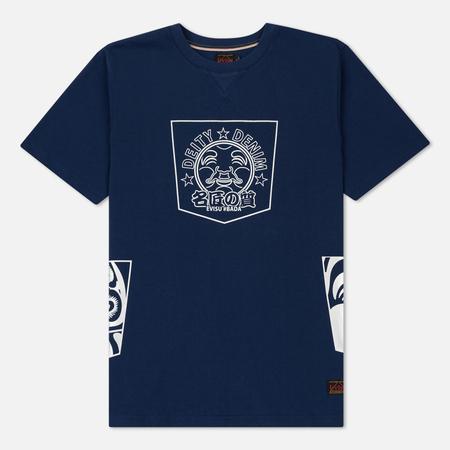 Мужская футболка Evisu Deity Denim Godhead Print Navy