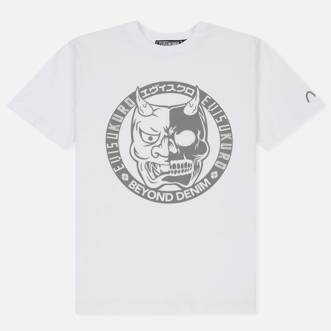 Мужская футболка Evisu Devil Reflective Print White