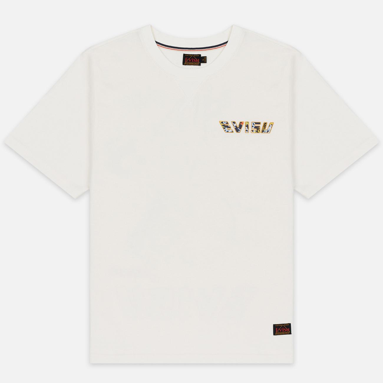 Мужская футболка Evisu Digital Printed Carp Pattern Off White