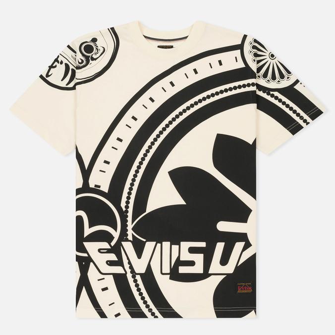 Мужская футболка Evisu Enlarge Kamon Ecru