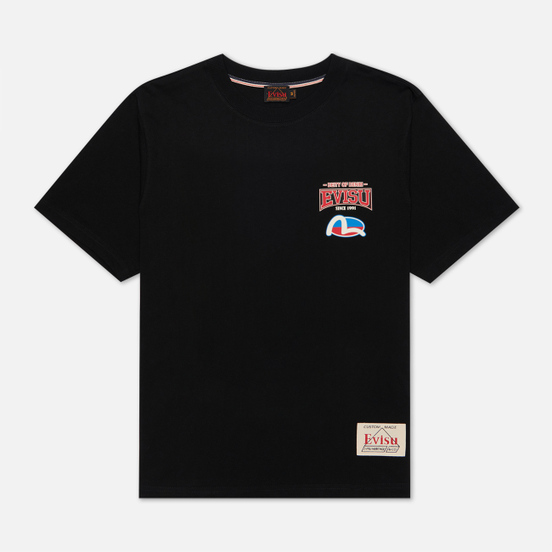 Мужская футболка Evisu Evergreen Daruma Godhead Tiger All Over Printed Black