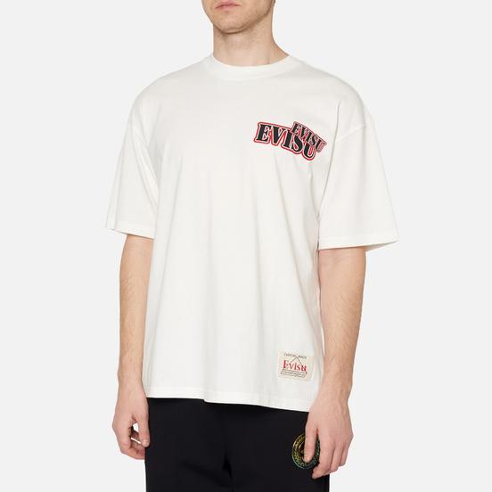 Мужская футболка Evisu Evergreen Daruma Graphic Printed Off White