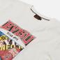 Мужская футболка Evisu Evergreen Godhead Tiger Graphic Printed Off White фото - 1