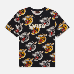 Мужская футболка Evisu Evergreen Tiger Head All Over Printed Multicolor