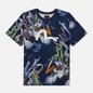 Мужская футболка Evisu Evergreen Tiger Landscape All Over Printed Dark Navy фото - 0