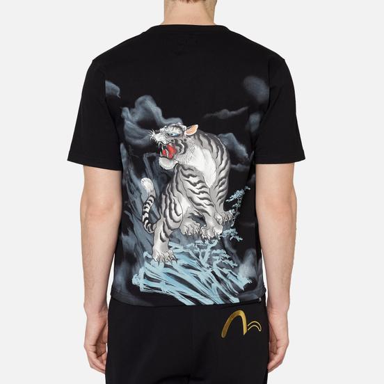 Мужская футболка Evisu Evergreen Tiger Landscape Digital Printed Black