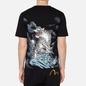 Мужская футболка Evisu Evergreen Tiger Landscape Digital Printed Black фото - 3