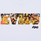 Мужская футболка Evisu Evisu Multicolor Graffiti Patchwork Bright White фото - 2