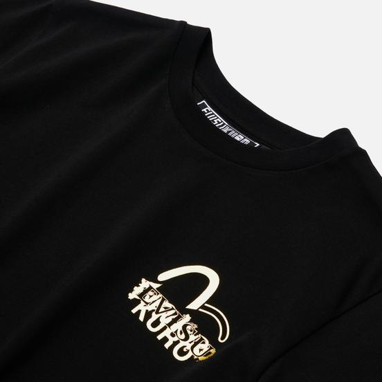 Мужская футболка Evisu Evisukuro Calligraphy & Hannya Black