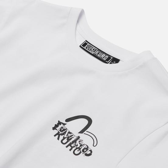 Мужская футболка Evisu Evisukuro Calligraphy & Hannya Bright White