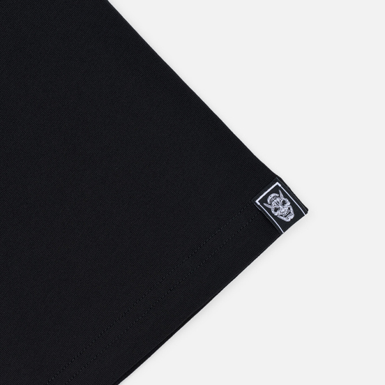 Мужская футболка Evisu Evisukuro Hannya Ring & Labyrinth Pillars Black