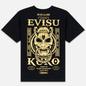 Мужская футболка Evisu Evisukuro Hannya Ring & Labyrinth Pillars Black фото - 4