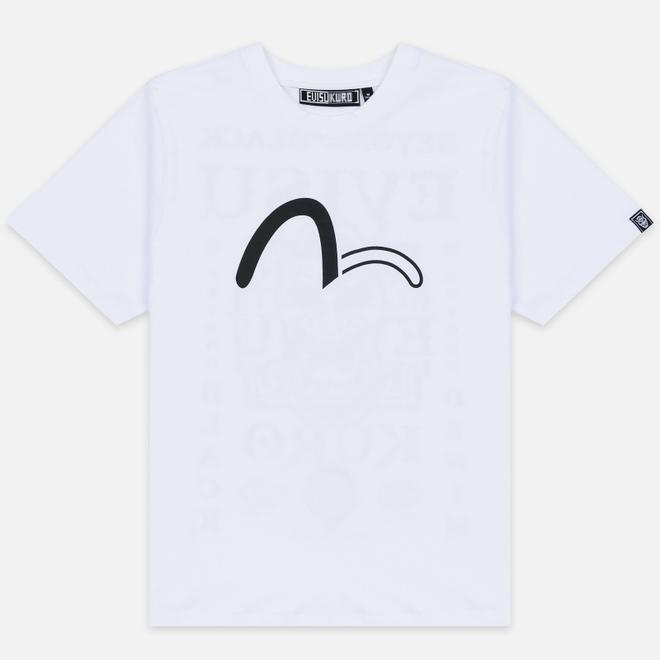 Мужская футболка Evisu Evisukuro Heraldry Bright White