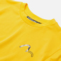 Мужская футболка Evisu Evisukuro Illusive Leaves Seagull Sport Yellow фото - 1