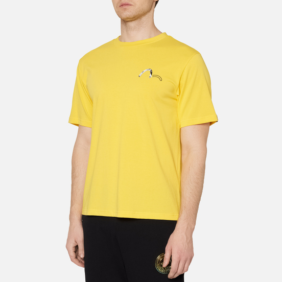 Мужская футболка Evisu Evisukuro Illusive Leaves Seagull Sport Yellow