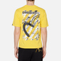 Мужская футболка Evisu Evisukuro Illusive Leaves Seagull Sport Yellow фото - 3