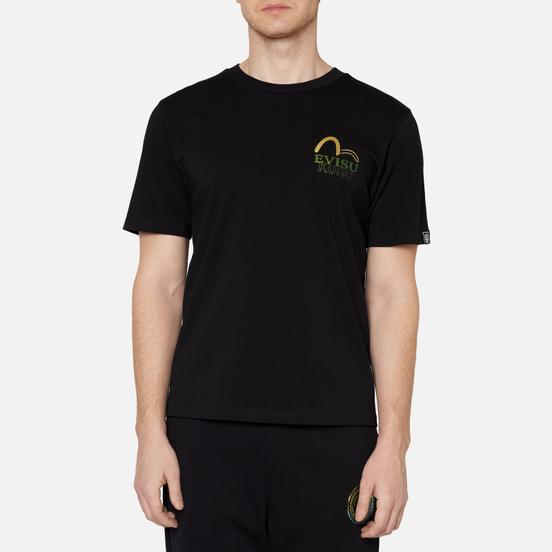 Мужская футболка Evisu Evisukuro Iridescent Eternal Black