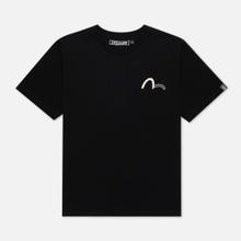 Мужская футболка Evisu Evisukuro Seagull & Hannya Black фото- 0