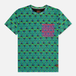 Мужская футболка Evisu Godhead Allover Print Green фото- 0