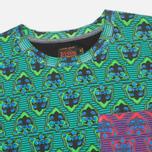 Мужская футболка Evisu Godhead Allover Print Green фото- 2