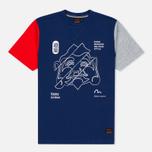 Мужская футболка Evisu Godhead Dark Blue фото- 0