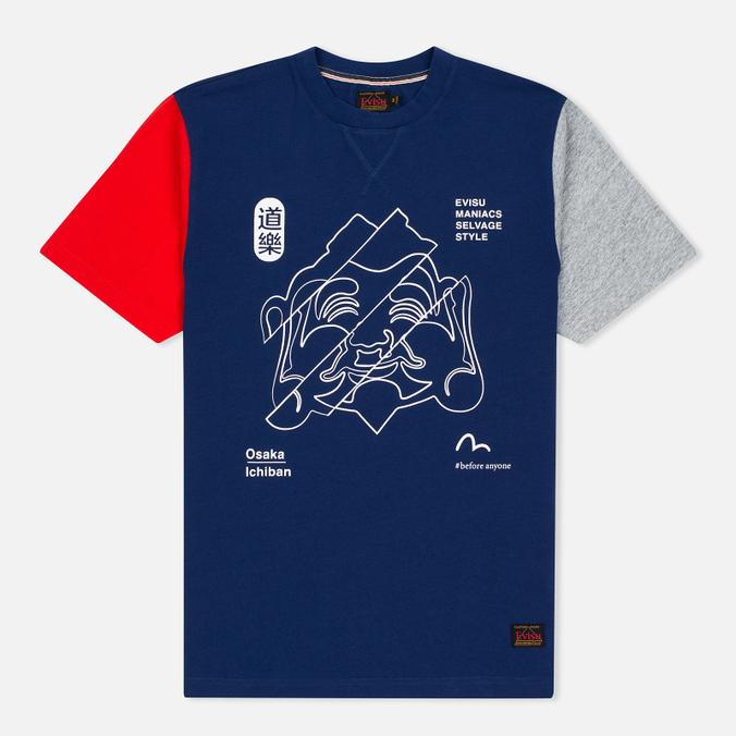 Мужская футболка Evisu Godhead Dark Blue