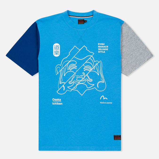 Мужская футболка Evisu Godhead Light Blue