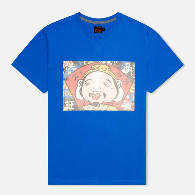 Мужская футболка Evisu Godhead Print Blue