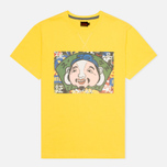 Evisu Godhead Print Men's T-Shirt Mustard photo- 0