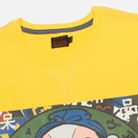 Evisu Godhead Print Men's T-Shirt Mustard photo- 1