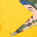 Evisu Godhead Print Men's T-Shirt Mustard photo- 3