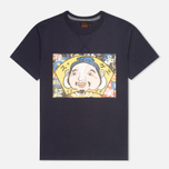 Evisu Godhead Print Men's T-Shirt Navy photo- 0