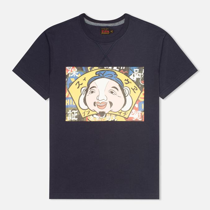 Мужская футболка Evisu Godhead Print Navy