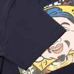 Evisu Godhead Print Men's T-Shirt Navy photo- 2