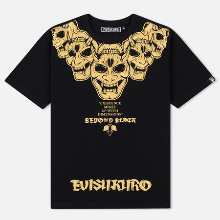 Мужская футболка Evisu Hannya Collar Black