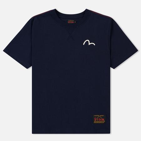 Мужская футболка Evisu Heritage Boxy Godhead Printed Dark Navy