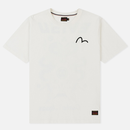 Мужская футболка Evisu Heritage Dragon Back Printed Off White