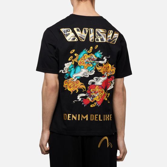 Мужская футболка Evisu Heritage Kirin Lion Logo Digital Printed Black