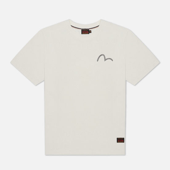 Мужская футболка Evisu Heritage Kirin Lion Logo Digital Printed Off White