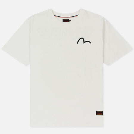 Мужская футболка Evisu Heritage Kirin Lion Logo Digital Printed Off White