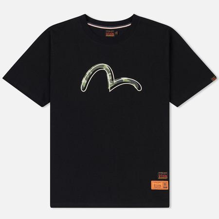 Мужская футболка Evisu Heritage Printed Seagull Logo Black
