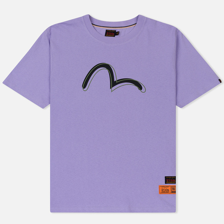Мужская футболка Evisu Heritage Printed Seagull Logo Light Purple