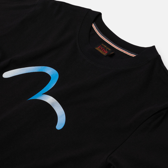 Мужская футболка Evisu Heritage Seagull Karmon Foil Printed Black