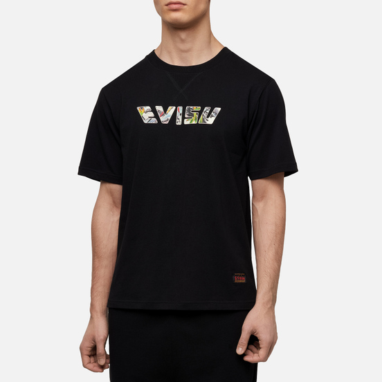 Мужская футболка Evisu Heritage Tiger Back Printed Logo Black