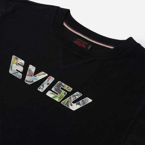 Мужская футболка Evisu Heritage Tiger Back Printed Logo Black