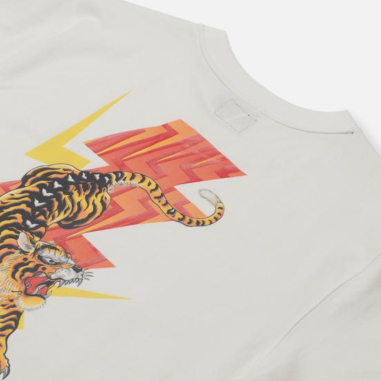 Мужская футболка Evisu Heritage Tiger Flash Graphic Printed Off White