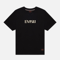 Мужская футболка Evisu Heritage Tiger Graphic Back Printed Black