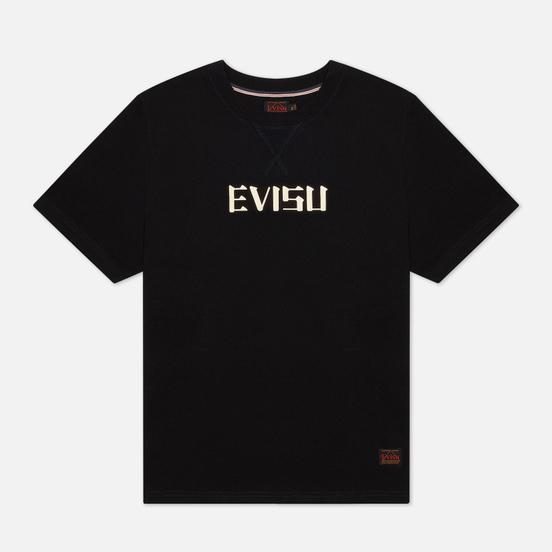Мужская футболка Evisu Heritage Tiger Graphic Back Printed Black