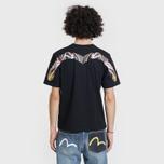 Мужская футболка Evisu Heritage Wave Tattoo Digital Printed Top Daicock Black фото- 3