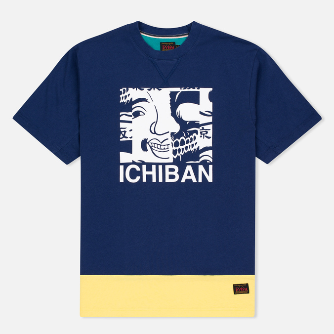 Мужская футболка Evisu Ichiban Blue